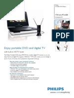 Philips 7 TV-DVD Player Pet729 37 Pss Aen