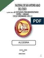 Algebra 2011-II Xxxx