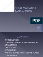 TOROIDAL VARIATOR TRANSMISSION