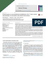 Proprioception in Musculoskeletal RehabilitationI