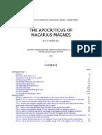 Macarius Magnes Apocriticus