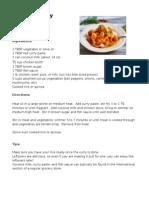 Recipes- June 2014