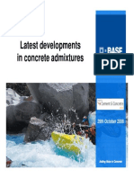 Latest developments in concrete admixtures