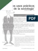 Los Usos Prácticos de La Sociología Colombia
