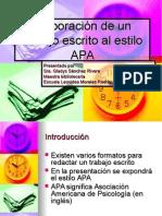 Elaboración de Un Trabajo Escrito en estilo APA