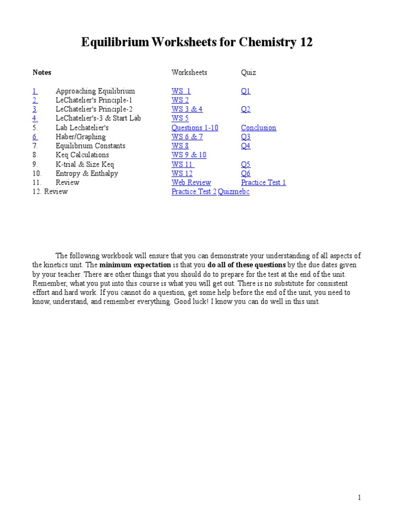 worksheet. Chemical Equilibrium Worksheet Answers. Grass Fedjp ...