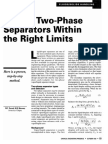 Design Two Phase Separators Within the Right Limits