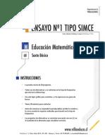 Ensayo1 Simce Matematica 6basico 2014