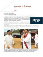 Basil Rajapaksa's Fiasco