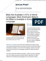 Bible Not Available in 57% Language
