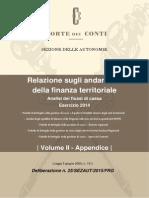 Corte Dei Conti i Comuni i Tributi Ed i Servizi 2014 Delibera_25_2015_sezaut_appendice