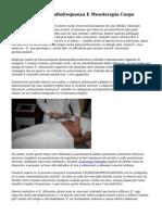 Cavitazione Con Radiofrequenza E Mesoterapia Corpo