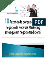 10 razones para elegir network marketing