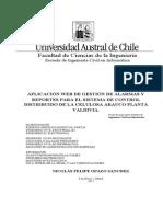 Aplicación Web de Gestión de Alarmas y Sistem Control Celulosa Arauco Valdivia