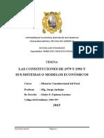 Las Constituciones de 1979 y 1993 y Sus Sistemas o Modelos Económicos -Al 100%