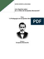 """Encontro Espírita sobre """"a Vida e a Obra de Eurípedes Barsanulfo"""""""