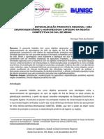 GLOBALIZAÇÃO E ESPECIALIZAÇÃO PRODUTIVA REGIONAL