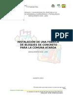 Anteproyecto Bloquera Comuna Ataroa