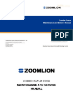 ZOOMLION CRAWLER CRANE ZCC800HWG  Maintenance Manual