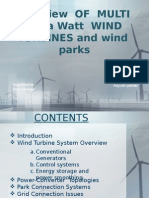 Overview of MULTI Megawatt WIND TURBINES and Wind Parks(1)