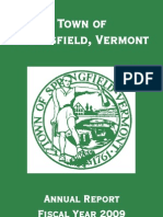 Springfield, VT 2009 Annual Town Report