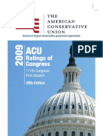 2009 ACU Ratings of Congress