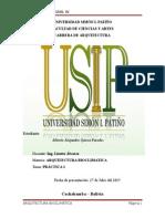 Trabajo de Arquitectura Bioclimatica (Formacion Integral IV)