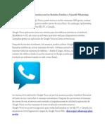 Google Voice-confrontación Con Los Estados Unidos o Canadá WhatsApp