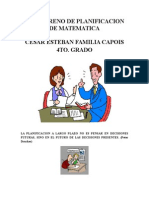Planificacion de Matematica