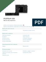 Manual de operación Fujifilm x30