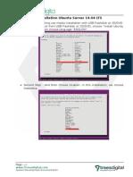 Documentation of Installation Ubuntu Server 14.04 LTS