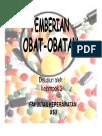 Kdm Slide Pemberian Obat-obatan