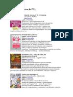 Indicação de Livros de PNL
