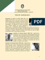 Disciplinas2015-2 UFRJ Musica