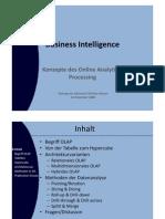 Konzepte de Online Analytical Processing (Vortrag)
