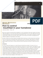 How to Control Mouthfeel in Your Homebrew - Pintwell