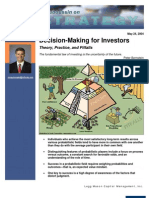 Decision-Making for Investors 052404 - Michael Mauboussin