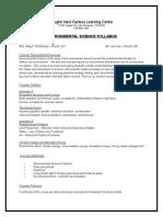 environmental science syllabus july2015