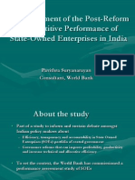 An Assessment of the Post-Reform Competitive Performance ofState-Owned Enterprises in India