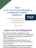 Citas Bibliográficas y Bibliografía