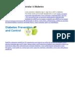 five Dicas Para Controlar A Diabetes