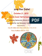 Save the Date Fall 2015 Symposium San Fernando Valley Chapter
