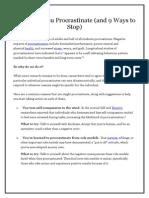 9 Reasons You Procrastinate.docx