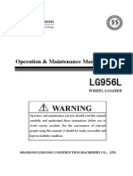 Shandong Lingong Wheel Loader LG956l Operation & Maintenance Manual Final 10.3.23