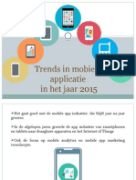 Trends in mobiele applicatie in het jaar 2015
