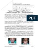 Guiding flange prosthesis for early management of reconstructed hemi mandibulectomy - a case report