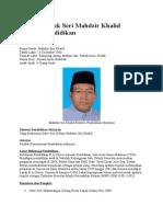 Biodata Datuk Seri Mahdzir Khalid Menteri Pendidikan.docx