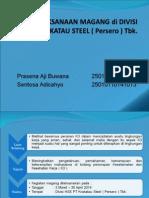 Internship at Krakatau Steel