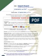 Programma Corso Import-Export APRILE 2010