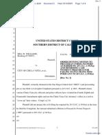 Williams v. City of Chula Vista et al - Document No. 3